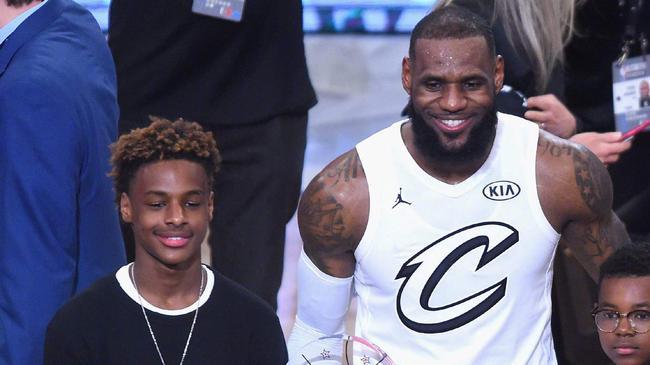 詹姆斯與大兒子