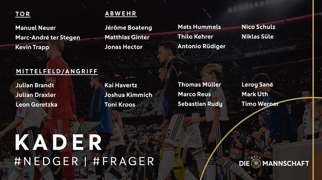 德国国家队名单:罗伊斯领衔 沙尔克前锋首次入选
