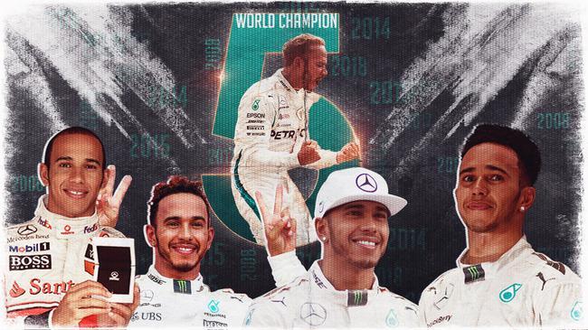 汉密尔顿加冕F1五冠王