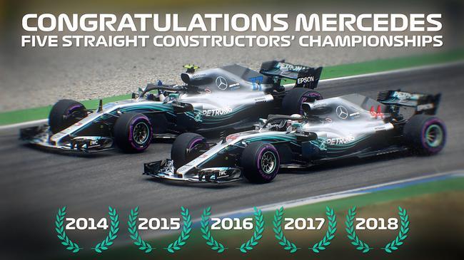 梅赛德斯车队夺得五连冠