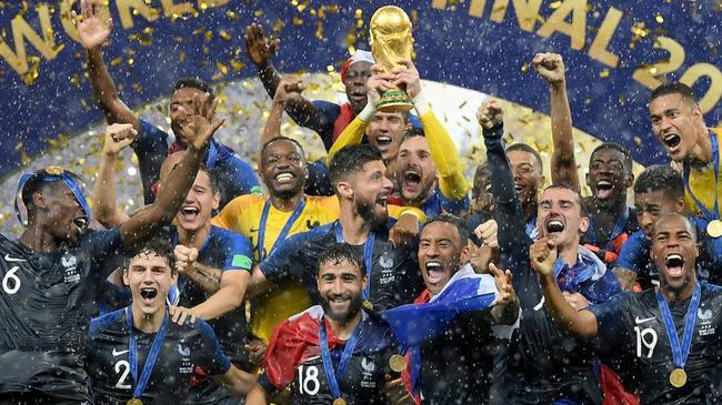 法国队世界排名第2