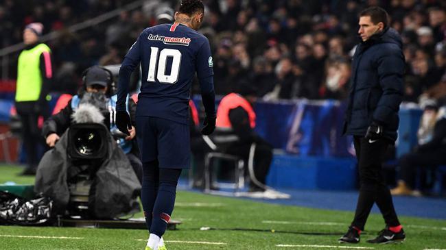 噩耗!巴黎宣布内马尔伤缺10周 无缘欧冠战曼联