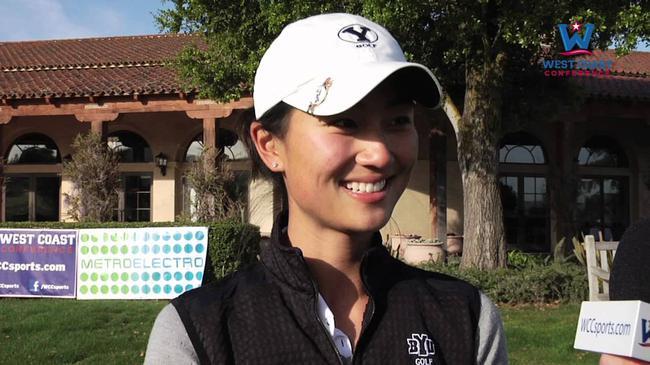 罗原晓惠在大学校队比赛期间接受采访