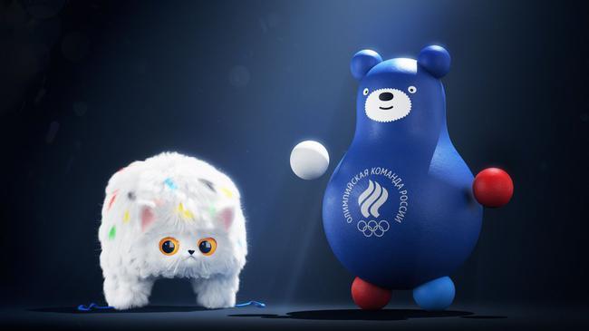 帽子猫和不倒翁熊成为俄罗斯奥委会新吉祥物