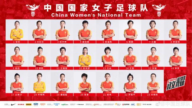 中国女足公布世界杯大名单:王霜领衔 吴海燕入选