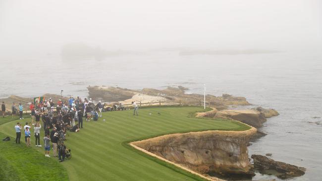 海雾弥漫是圆石滩杆数偏矮因为