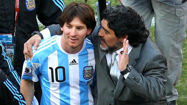 马拉多纳:梅西的任意球还是我教的