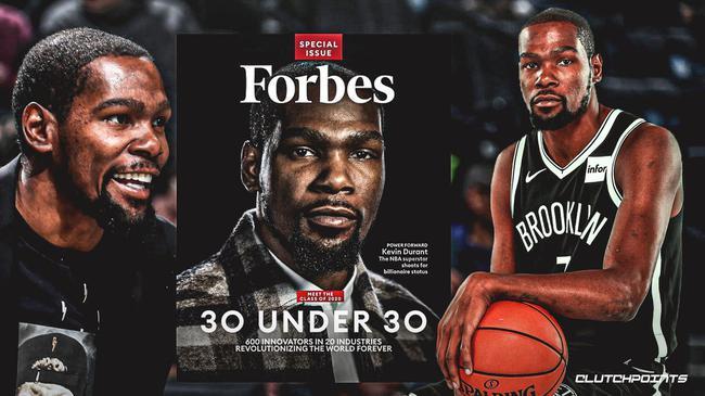 杜兰特宣布登上了《福布斯》杂志封面