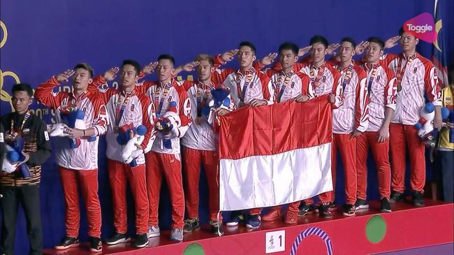 东南亚运动会印尼羽球男团实现六连冠 大马亚军