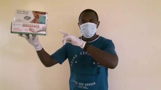 乔氏卢旺达代理商让·皮埃尔和他采购的口罩