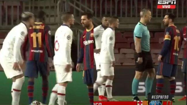 巴萨对巴黎细节挖出  梅西曾和阿根廷队友争吵