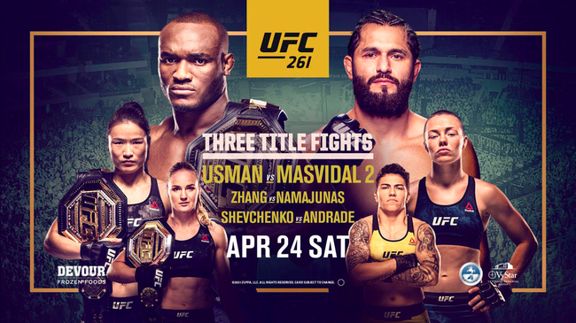 UFC261前瞻:冠军战三连发 张伟丽卫冕战对阵罗斯