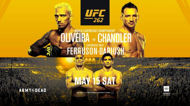 UFC262前瞻:奥利维拉VS钱德勒 轻量级新王者诞生夜