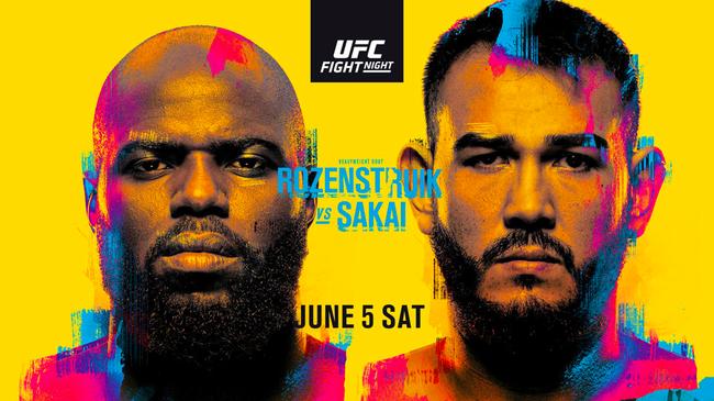 UFC格斗之夜:罗森斯楚克VS萨凯赛事前瞻