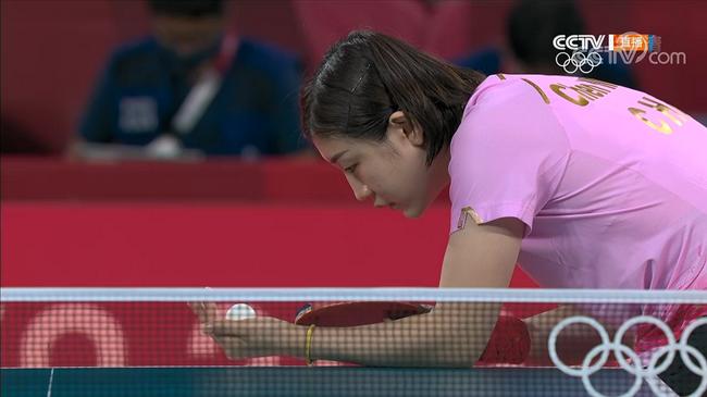 陳夢在比賽中