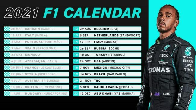 【博狗扑克】F1发布更新版赛历:三站比赛推迟一周 一站仍待定