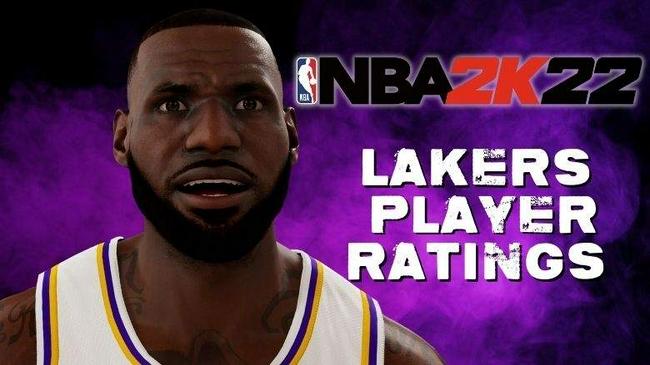 湖人全队NBA2k22评分曝光:詹姆斯96 威少86