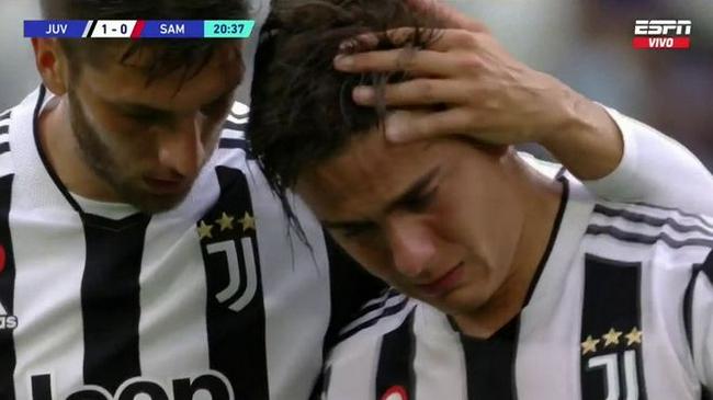 【博狗体育】早早进球又早早受伤    迪巴拉哭着离场