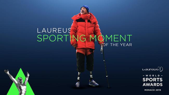 中国登山者夏伯渝获得劳伦斯年度最佳体育时刻奖