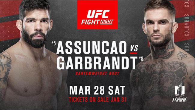 前冠军加布兰特UFC on ESPN8 对阵巴西名将阿松桑