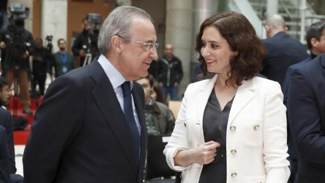 弗洛伦蒂诺跟马德里主席阿尤索