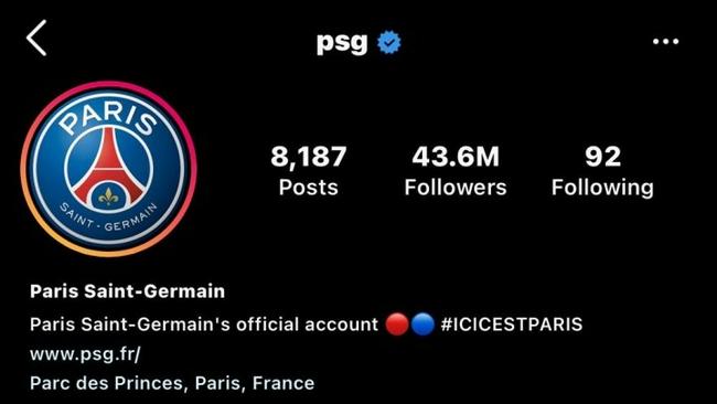 梅西让巴黎粉丝数量大增  社交账号猛增500万粉丝