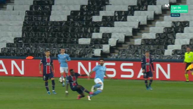 大巴黎球员断腿式犯规被罚下 京多安都被痛哭了