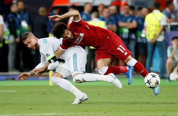 拉莫斯往年欧冠决赛弄伤了萨拉赫
