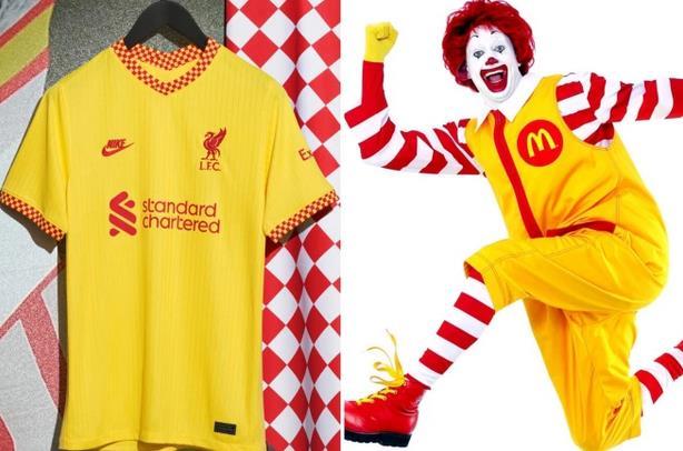 【博狗扑克】利物浦全新第三球衣引吐槽 黄色复古1980年代