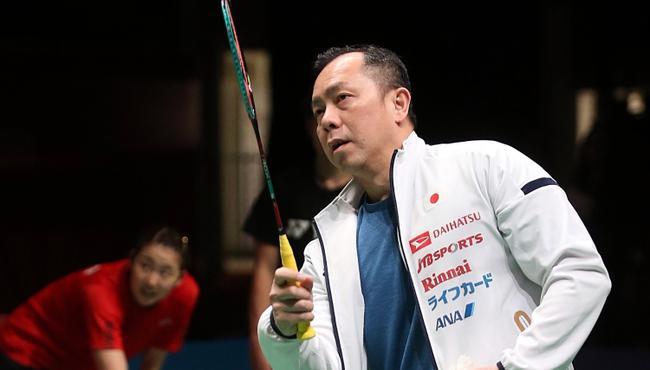 前大马国手、现任日本队男双教练陈金。