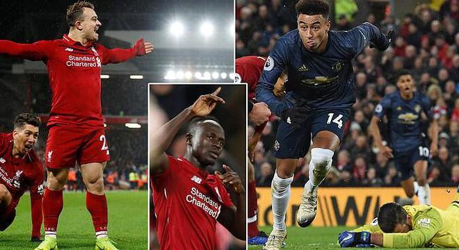 英超-沙奇里梅开二度 利物浦3-1曼联