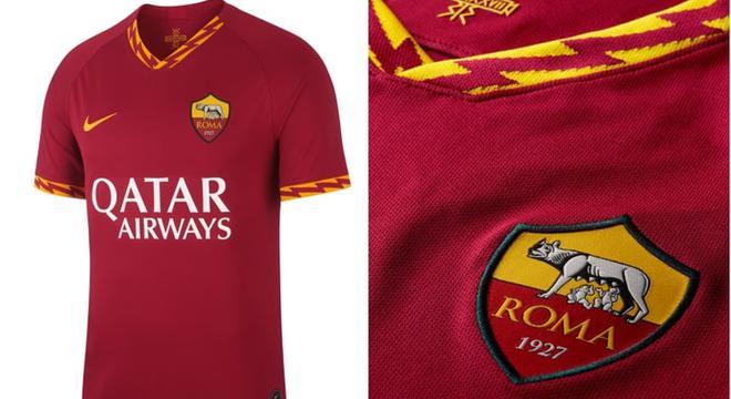 罗马新赛季球衣 1细节设计霸气十足