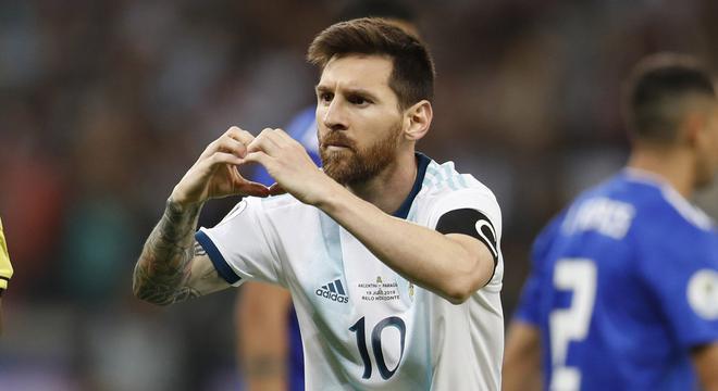 美洲杯-梅西破门 阿根廷战平