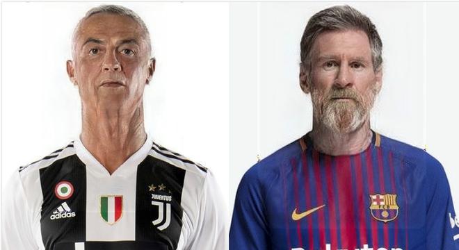 当梅西C罗们都老了 他们长这样