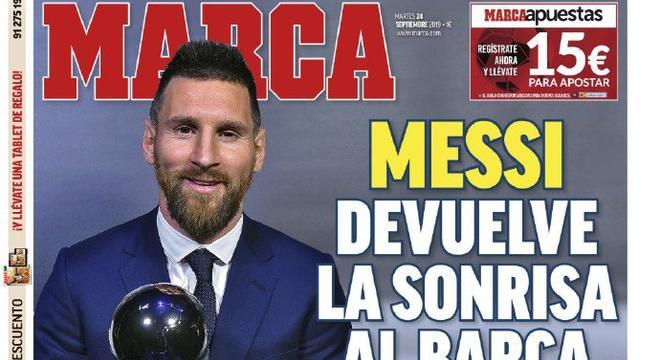 看看欧洲媒体如何评价梅西获奖