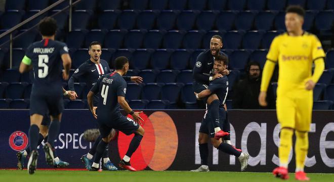 欧冠-内马尔头筹飞翼破门 巴黎2-0胜10人多特晋级