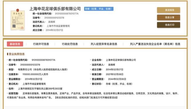 上海绿地申花正式更名上海申花 企业名已被去掉