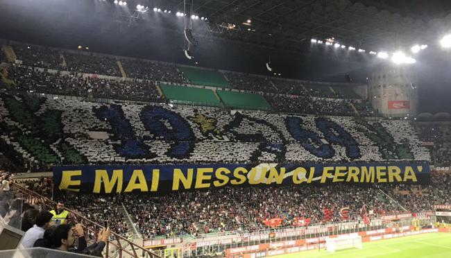 国际米兰球迷Tifo