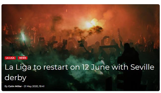 西甲6月12日重新开战 7月底前踢完剩下11轮_足球