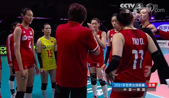 中德第四局:中国女排25-21获胜 比赛进入决胜局