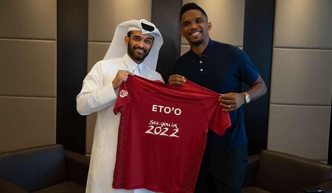 卡塔爾世界盃組委會任命埃託奧爲全球大使
