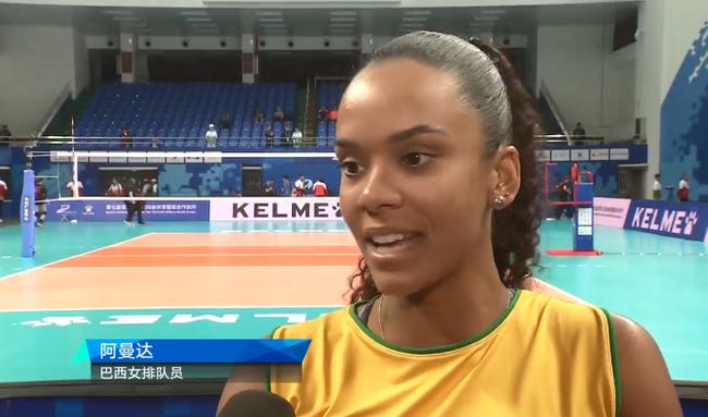 巴西女排第一得分手——阿曼达