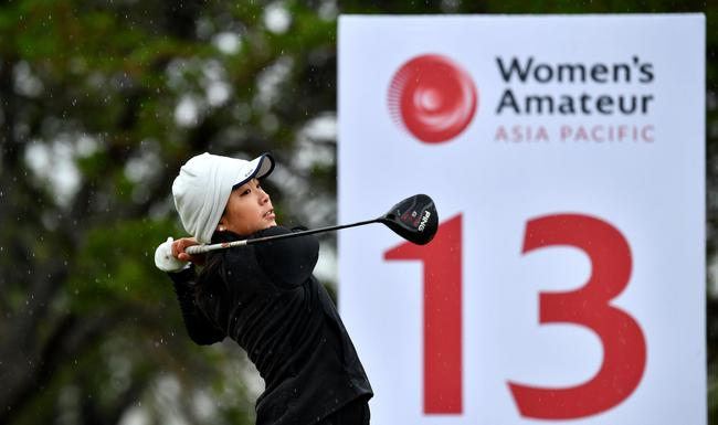 亚太女子业余锦标赛次轮遭遇低温大风 殷小雯第4