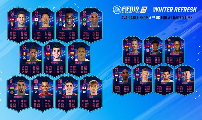 FIFA19推出的冬季焦点球员黑卡