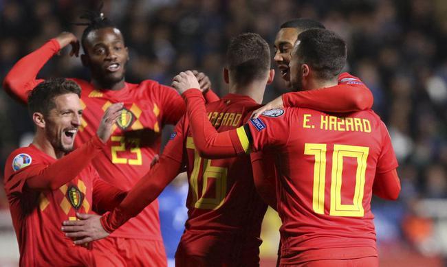 欧预赛-阿扎尔进球比利时2-0胜 克罗地亚1-2客负