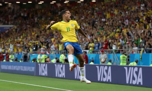 世界杯-库鸟世界波 内马尔险绝杀 巴西1-1平瑞士