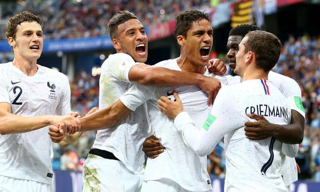 世界杯-格子传射 皇马铁卫破门 法国2-0胜乌拉圭