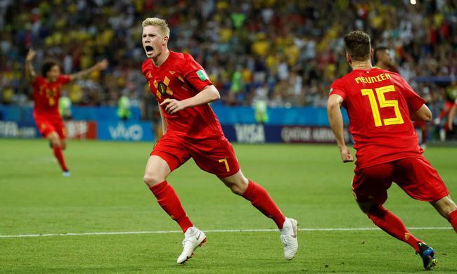 世界杯-丁丁破门 中超外援安慰球 巴西1-2比利时