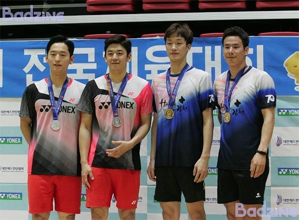 高成炫/申白喆第四次奪全韓冠軍 李龍大無奈退賽