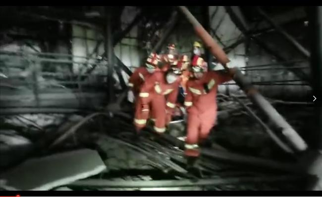 救援现场。 视频截图